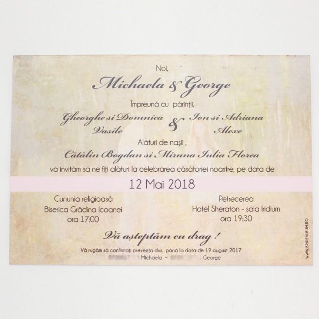 Invitatie Nunta Tip Calendar Bin157 Invitatii Nunta Albume Foto