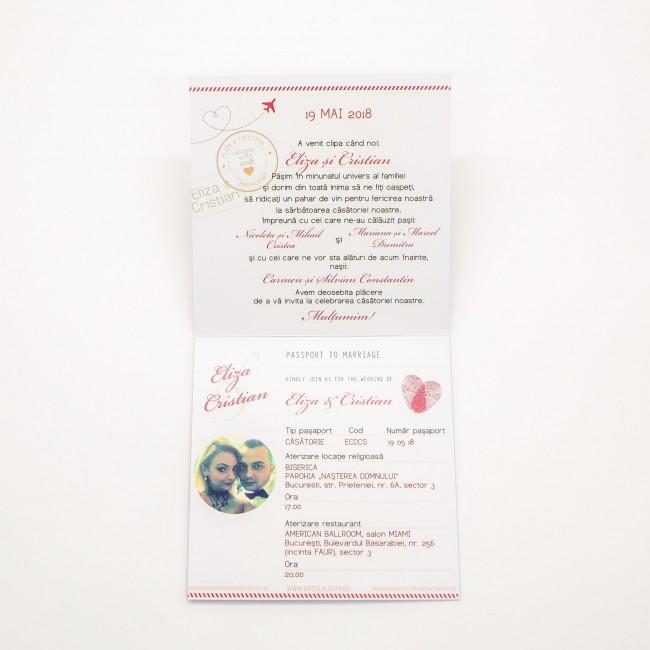 Invitatie Nunta Tip Pasaport Bin161 Invitatii Nunta Albume Foto