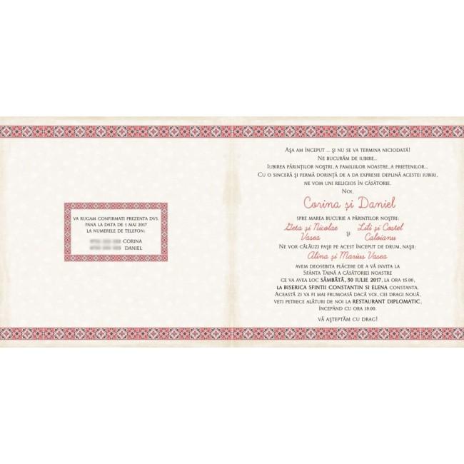 Invitatie Nunta Bin104 Invitatii Nunta Albume Foto Invitatii Botez