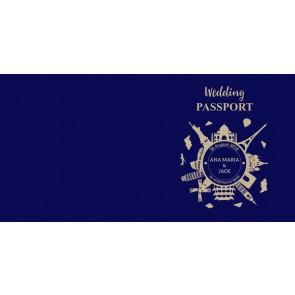 Invitatie nunta BIN118 - pasaport