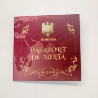 Invitatie nunta tip pasaport BIN161