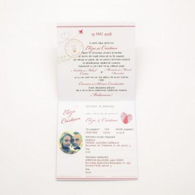 Invitatie nunta BIN161 - pasaport
